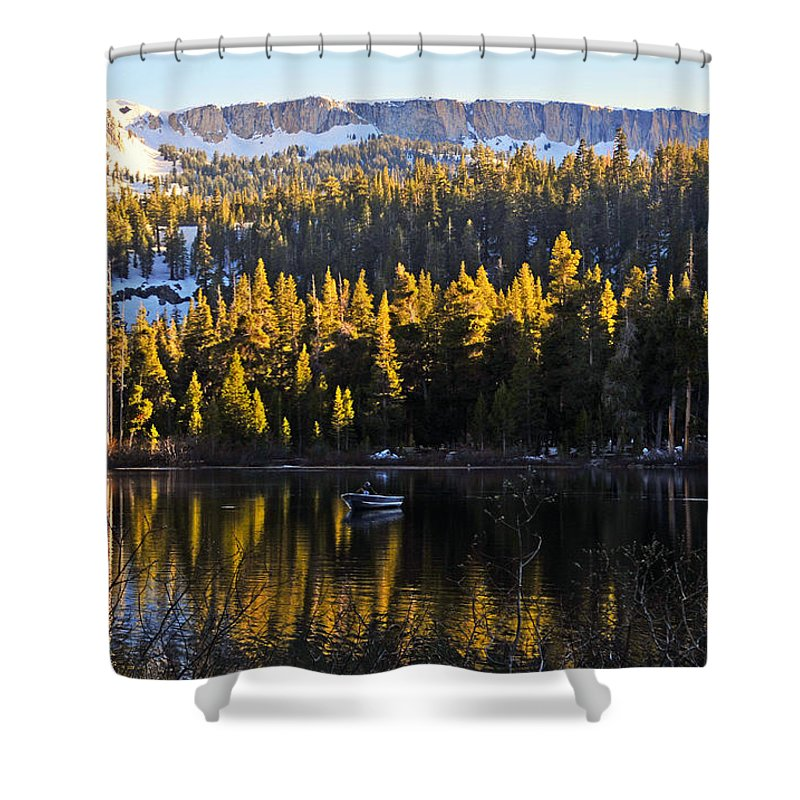 Trolling Shower Curtain featuring the photograph Trolling On Twin Lakes by Lynn Bauer