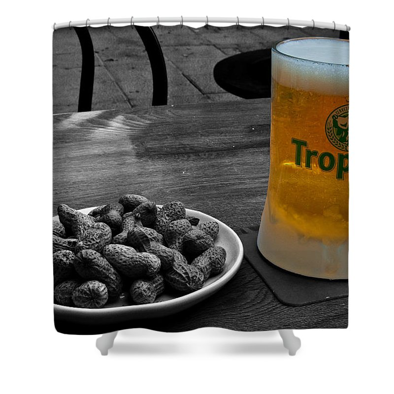 Tropical Shower Curtain featuring the photograph Tropical Beer by Rob Hawkins