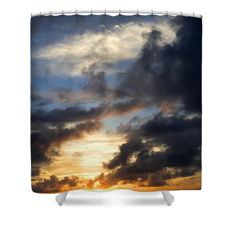 Tropical Shower Curtain featuring the photograph Tropical Sunset by Fabrizio Troiani