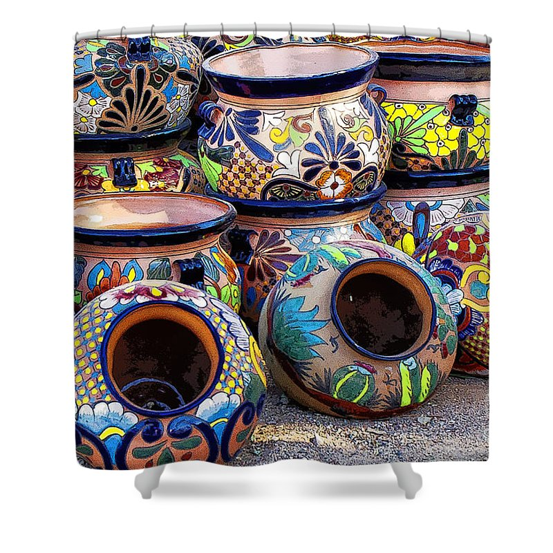 Tubac Shower Curtain featuring the photograph Tubac 1 by Larry White