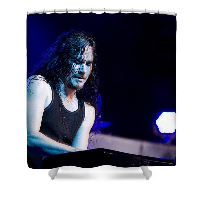 Tuomas Holopainen Shower Curtain featuring the photograph Tuomas Holopainen - Nightwish by Saija Lehtonen