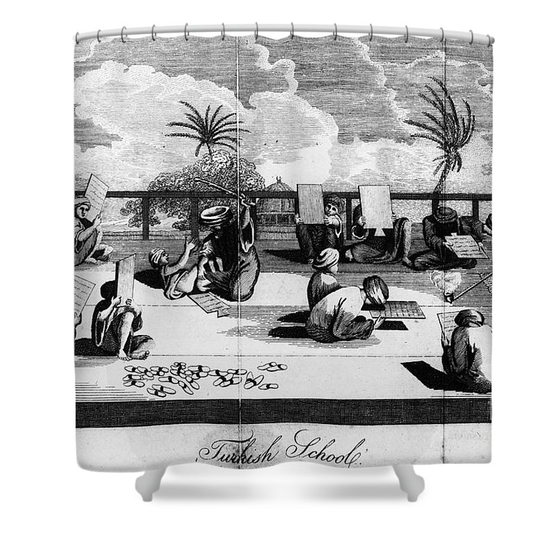 1800 Shower Curtain featuring the photograph Turkey: School, C1800 by Granger