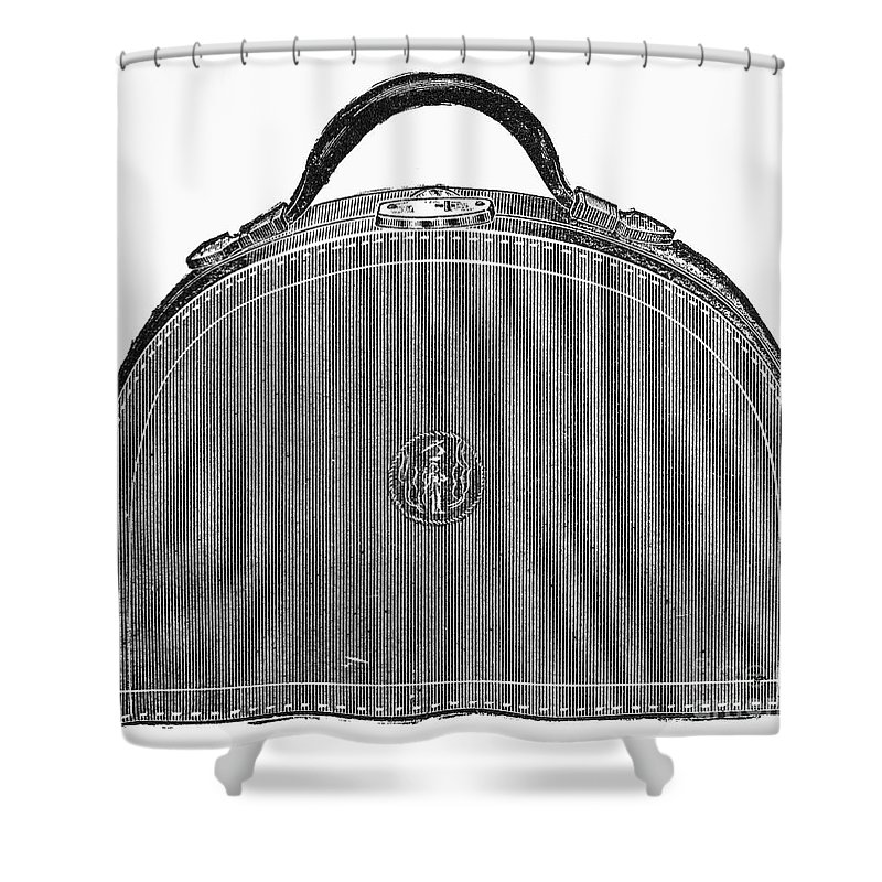 1889 Shower Curtain featuring the photograph Typewriter Case, 1889 by Granger