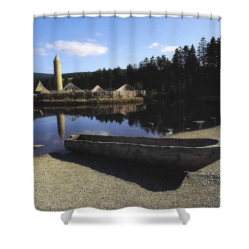 Boat Shower Curtain featuring the photograph Ulster History Park, Co Tyrone, Ireland by The Irish Image Collection