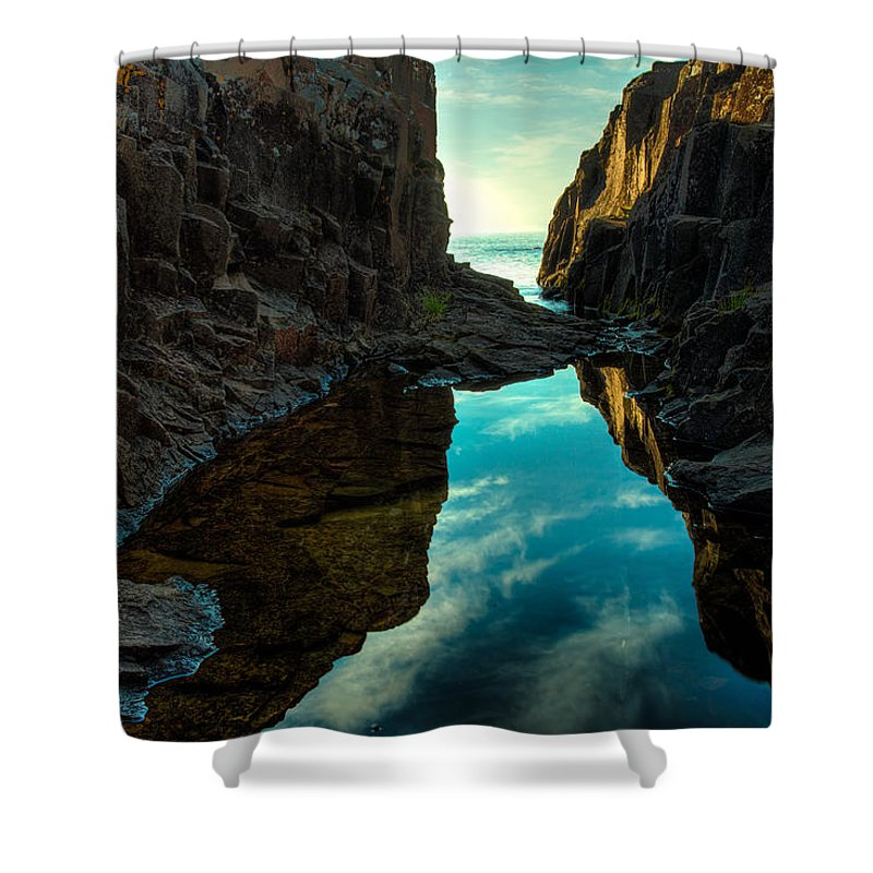 Blue Hour Shower Curtain featuring the photograph Under And Over by Jakub Sisak