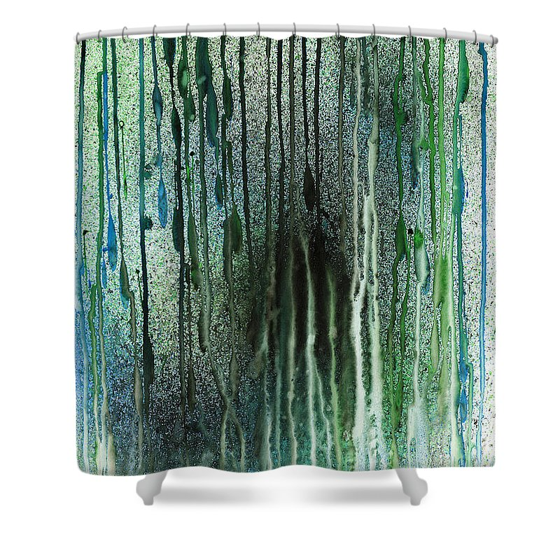 Acrylic Shower Curtain featuring the painting Underwater Forest by Hakon Soreide
