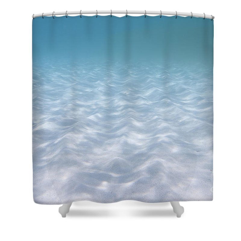 Sand Shower Curtain Featuring The Photograph Underwater Ripples By Karen Doody