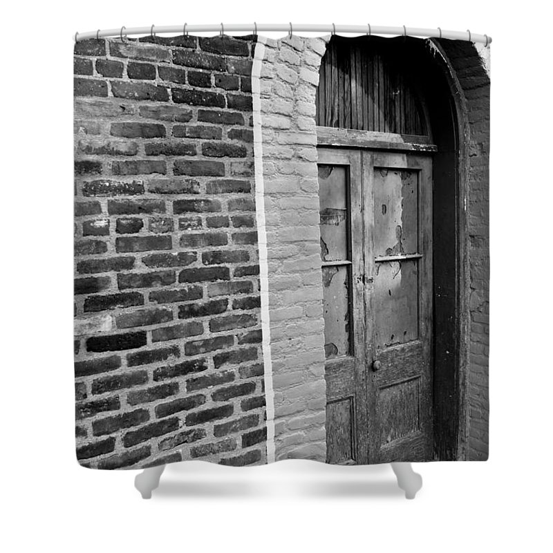 Door Shower Curtain featuring the photograph Untenanted by Colleen Coccia