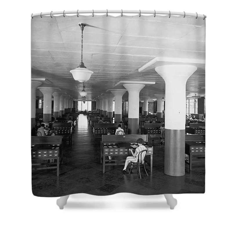 B And W Neg. No. 5131 B Shower Curtain featuring the photograph Untitled by Edwin L. Wisherd