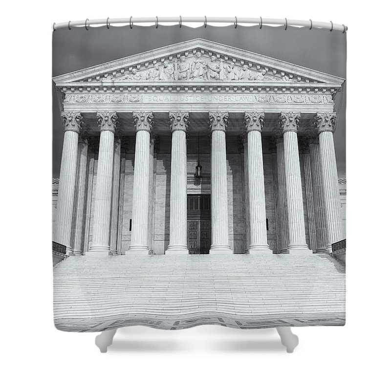 Clarence Holmes Shower Curtain featuring the photograph Us Supreme Court Building Viii by Clarence Holmes