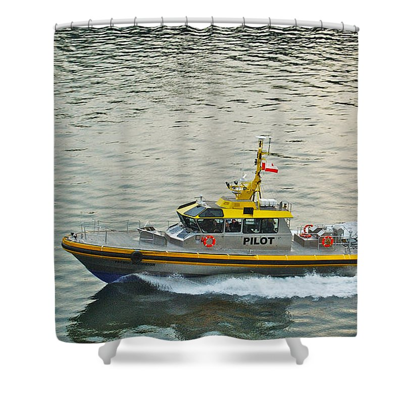 Pacific Shower Curtain featuring the photograph Vancouver Harbour Pilot by Michael Peychich