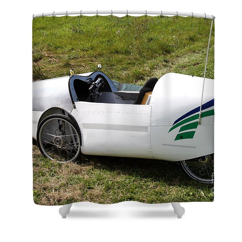 Human Powered Shower Curtain featuring the photograph Velomobile by Ted Kinsman
