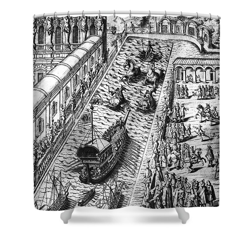 18th Century Shower Curtain featuring the photograph Venice: Procession by Granger