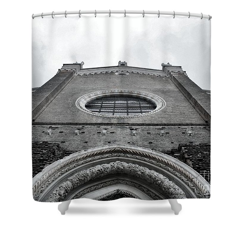 Venice Shower Curtain featuring the photograph Venitian Architecture I by Ellen Heaverlo