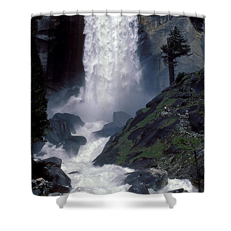 Water Shower Curtain featuring the photograph Vernal Falls Spring Flow by Paul W Faust - Impressions of Light