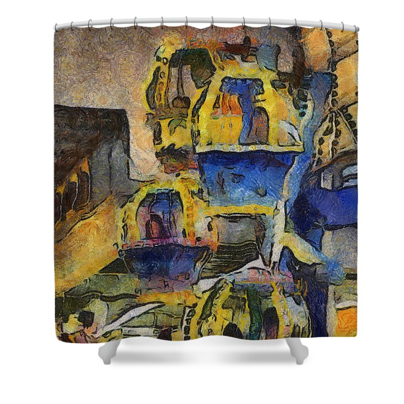 Amusement Ride Shower Curtain featuring the photograph Very Amusing by Trish Tritz