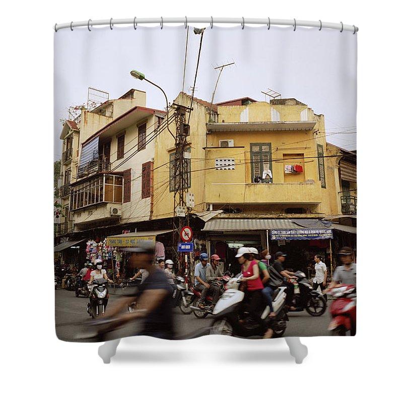 Asia Shower Curtain featuring the photograph Vibrant Hanoi by Shaun Higson