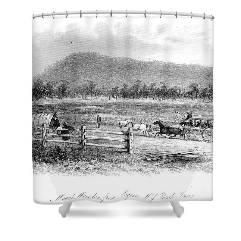 1856 Shower Curtain featuring the photograph Victoria, Australia, 1856 by Granger