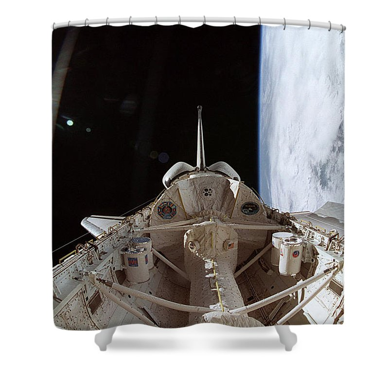 Columbia Shower Curtain featuring the photograph View Outside Columbias Cabin by Science Source