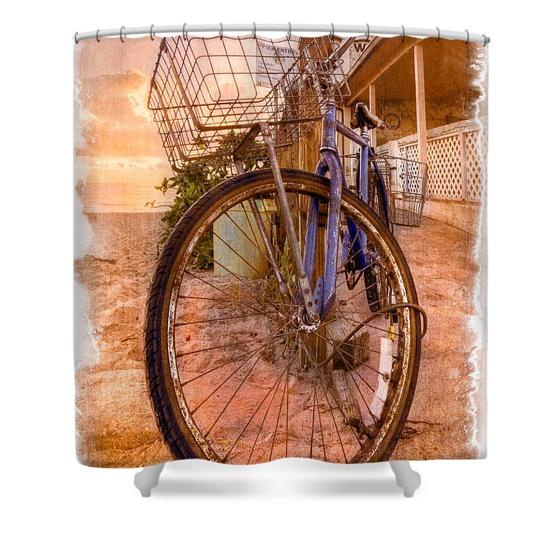 Delray Shower Curtain featuring the photograph Vintage Bicycle by Debra and Dave Vanderlaan