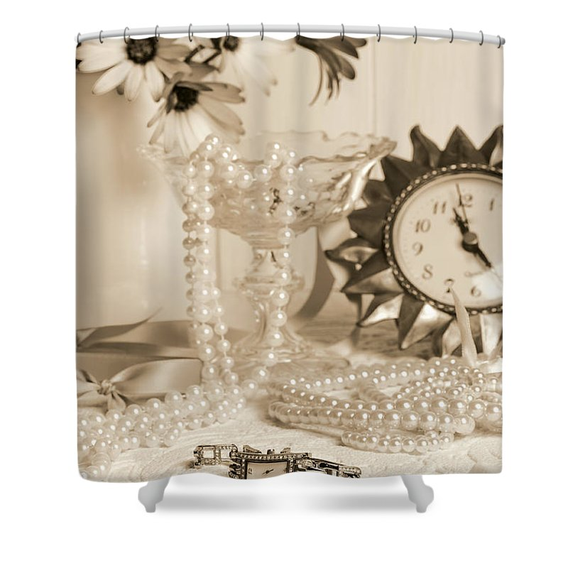 Vintage Shower Curtain featuring the photograph Vintage Dressing Table by Amanda Elwell