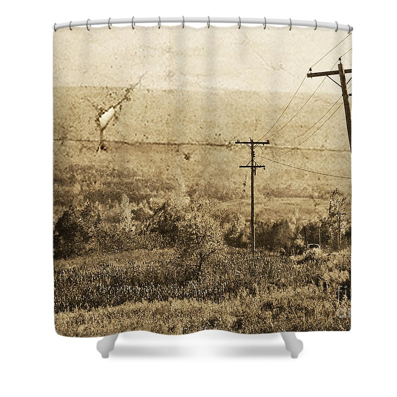 Ontario Shower Curtain featuring the photograph Vintage View Of Ontario Fields by Traci Cottingham