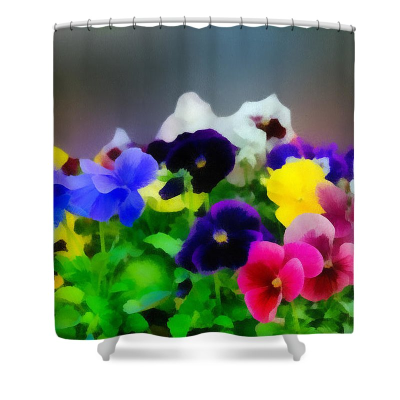 Art Shower Curtain featuring the photograph Viola Tricolor Heartsease by Michael Goyberg