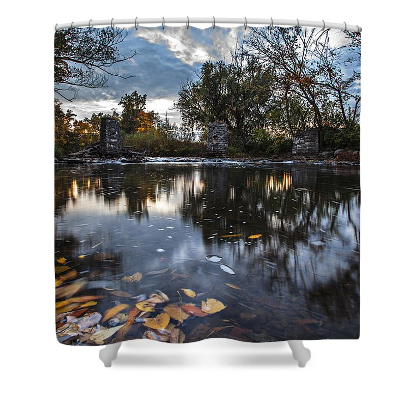 Cj Schmit Shower Curtain featuring the photograph Visions Of Fall by CJ Schmit
