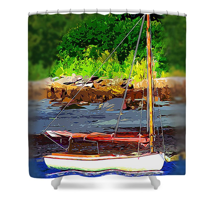 Sail Shower Curtain featuring the digital art Waiting To Sail by Stephen Younts