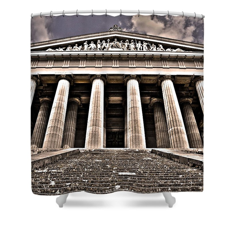 Europe Shower Curtain featuring the photograph Walhalla ... by Juergen Weiss