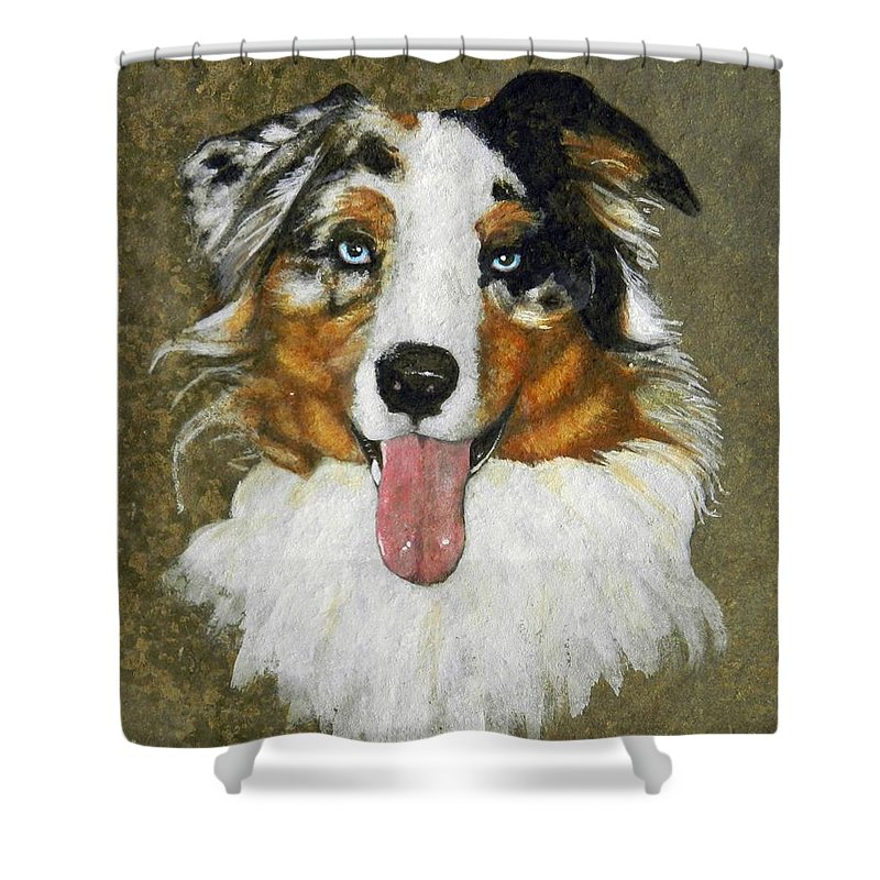 Mammals Shower Curtain featuring the painting Walker Commission by Stan White