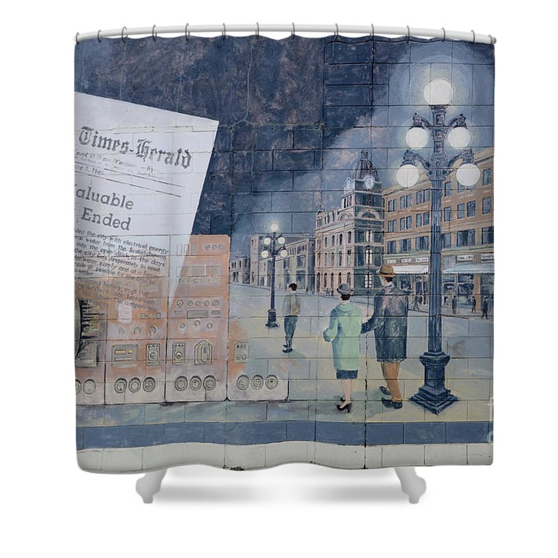 Mural Shower Curtain featuring the photograph Wall Art Moose Jaw 2 by Bob Christopher