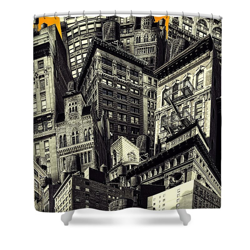 Composite Shower Curtain featuring the photograph Walls And Towers by Chris Lord