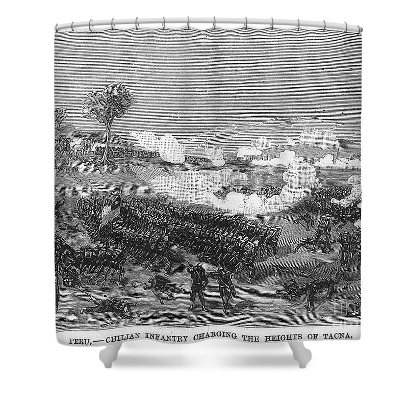 1880s Shower Curtain featuring the photograph War Of The Pacific, 1879-1884 by Granger