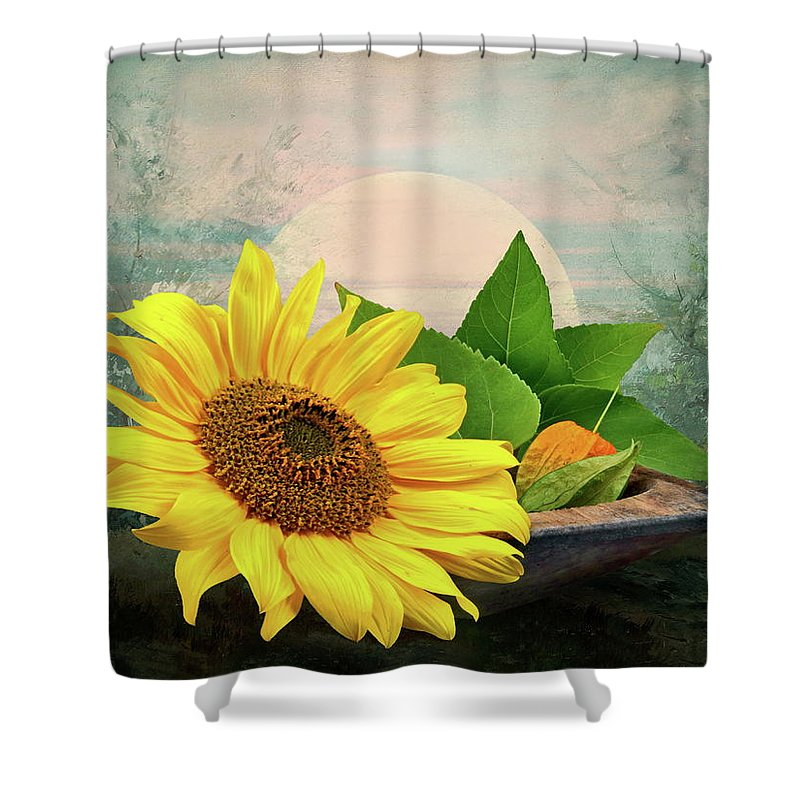 Warm Shower Curtain featuring the photograph Warm Light by Manfred Lutzius