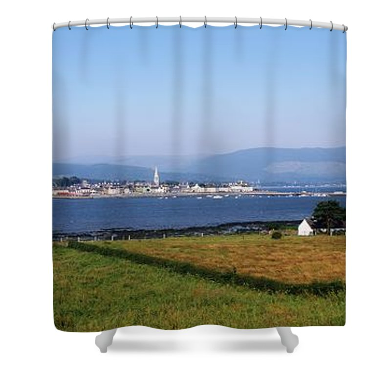 Contrast Shower Curtain featuring the photograph Warrenpoint From Carlingford, Co. Down by The Irish Image Collection