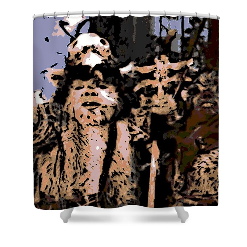 Ewoks Shower Curtain featuring the photograph Warriors by George Pedro