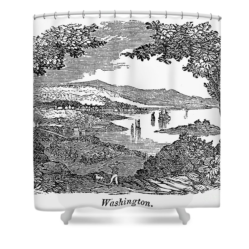 1840 Shower Curtain featuring the photograph Washington, D.c., 1840 by Granger