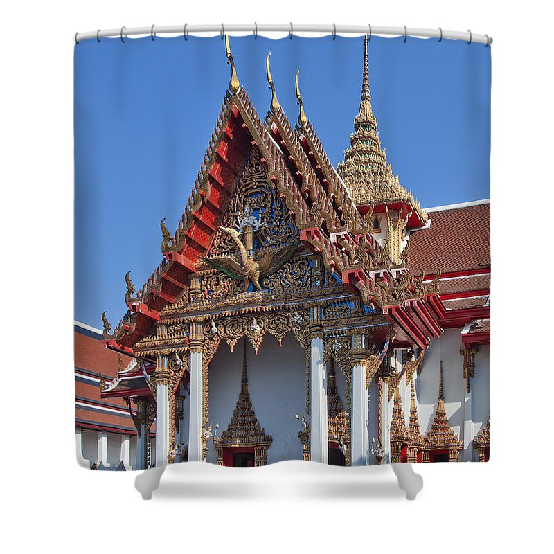 Bangkok Shower Curtain featuring the photograph Wat Thewarat Kunchorn Wiharn Dthb292 by Gerry Gantt