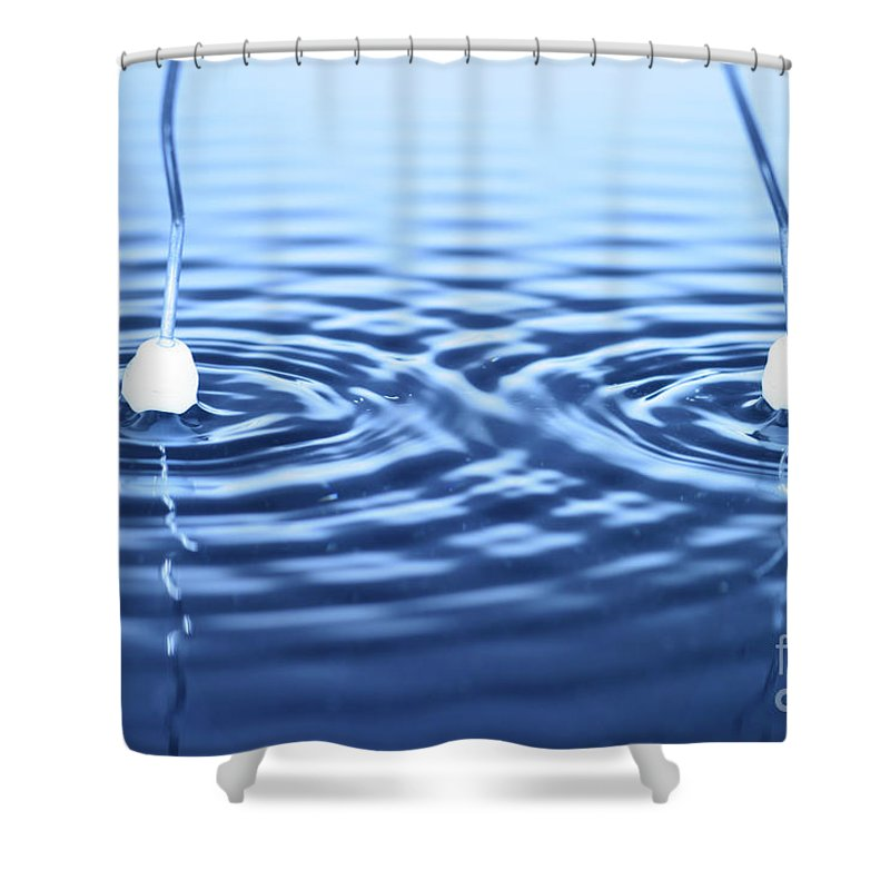 Interverence Shower Curtain featuring the photograph Water Waves by Ted Kinsman