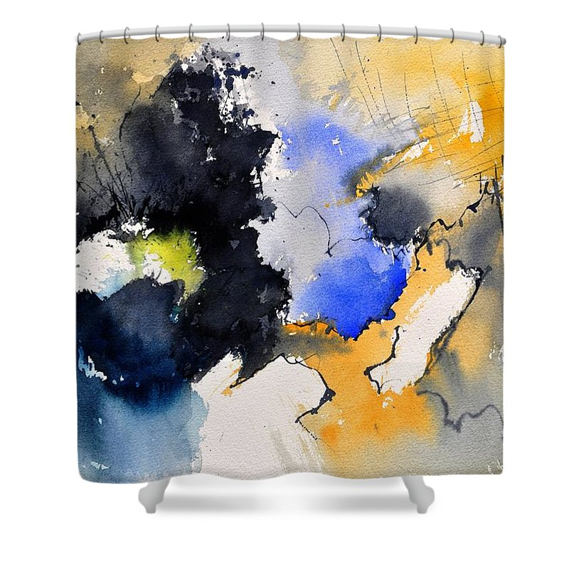 Abstract Shower Curtain featuring the painting Watercolor 218050 by Pol Ledent