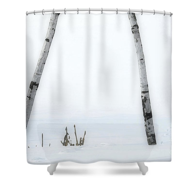 Digital Shower Curtain featuring the photograph Watercolours 109 by Mike Nellums