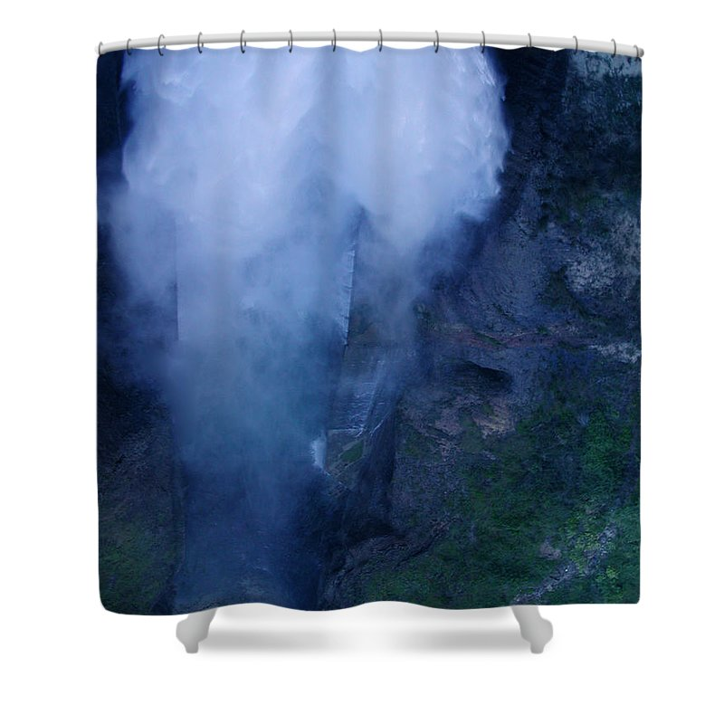 Colette Shower Curtain featuring the photograph Waterfall In Spain Near Granada by Colette V Hera Guggenheim