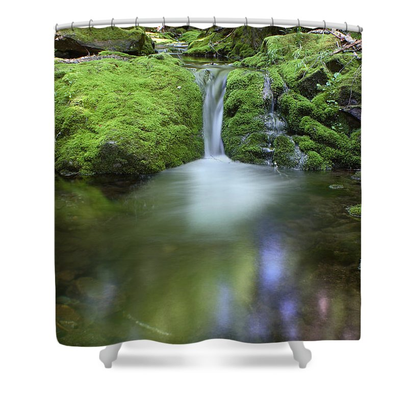 Waterfall Shower Curtain featuring the photograph Waterfall by Ted Kinsman