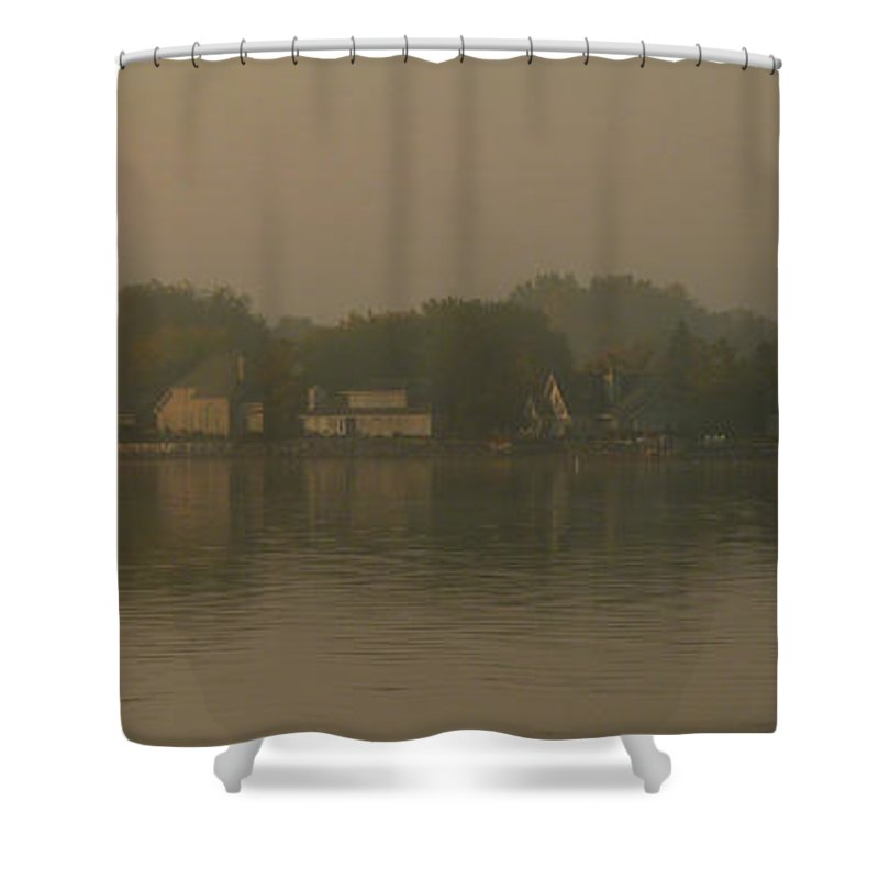 Waterfront Shower Curtain featuring the photograph Waterfront Houses by Tim Nyberg