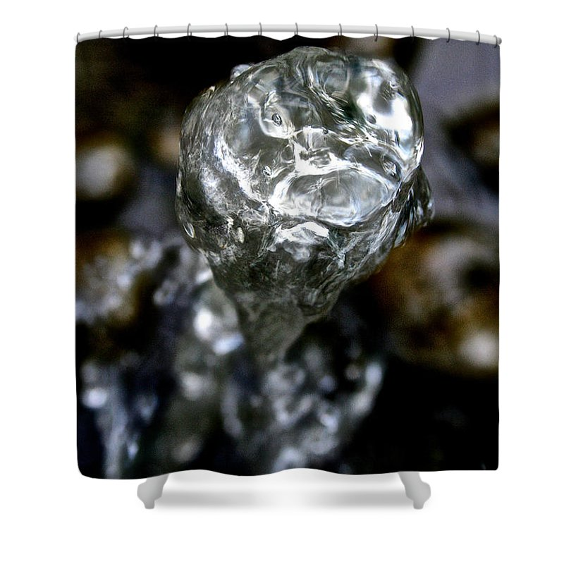 Outdoors Shower Curtain featuring the photograph Water's Apex by Susan Herber