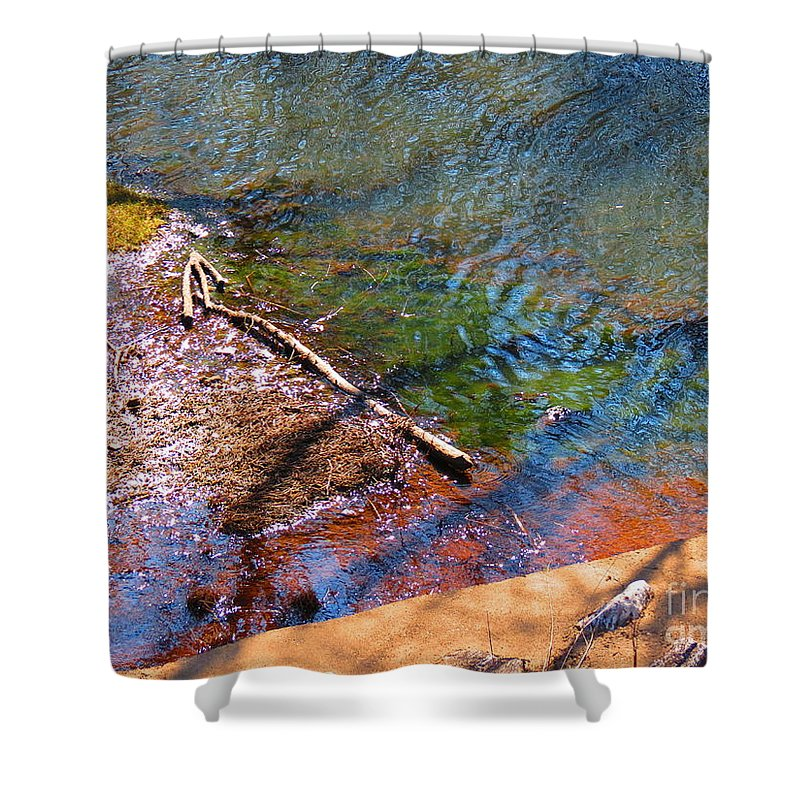 Water Shower Curtain featuring the photograph Watery Shadows by Rrrose Pix