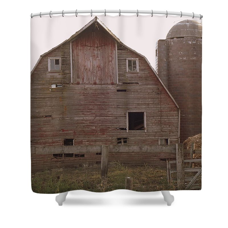 Barn Shower Curtain featuring the photograph Weathered by Bonfire Photography