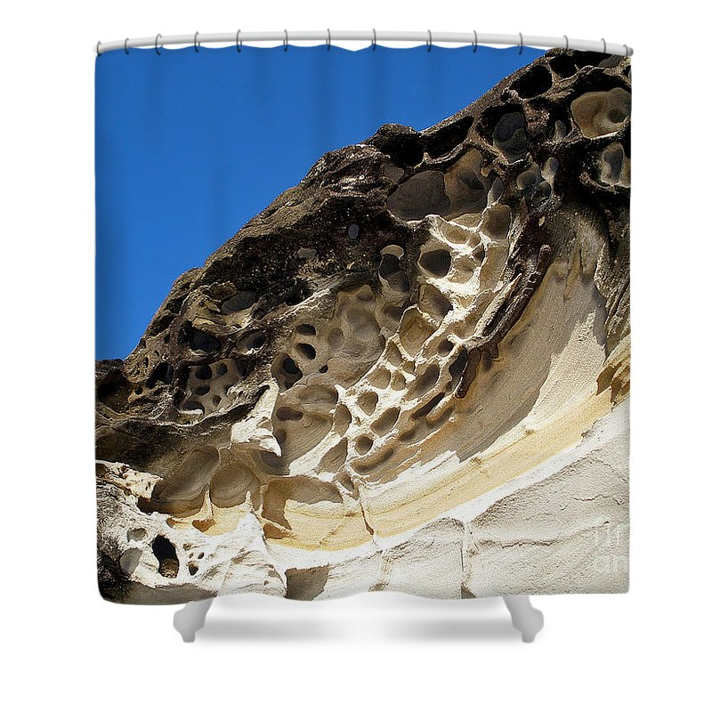 Photography Shower Curtain featuring the photograph Weathered Sandstone by Kaye Menner