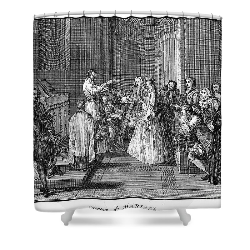 1730 Shower Curtain featuring the photograph Wedding, C1730 by Granger